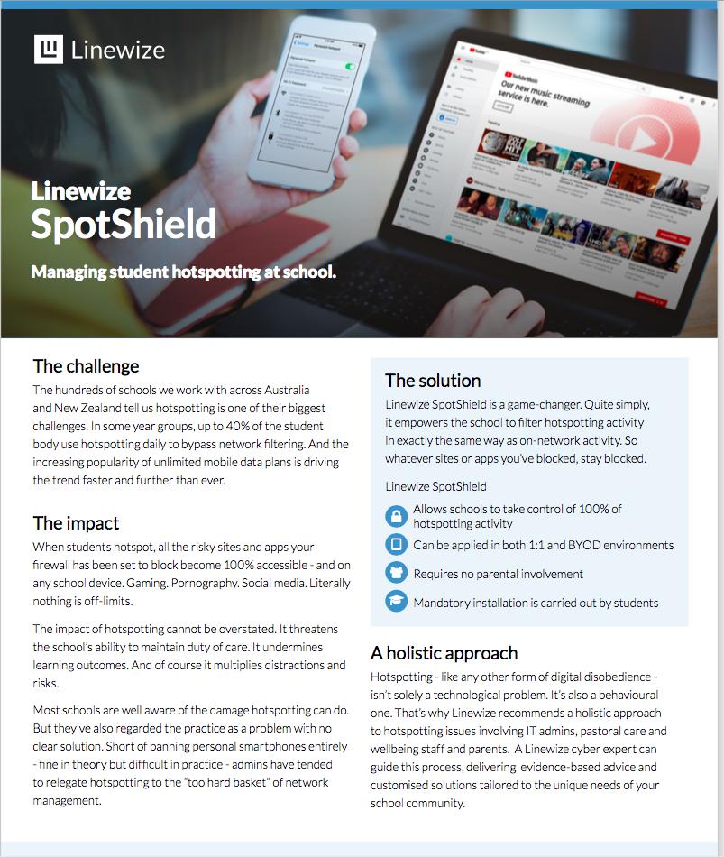Linewize Spotshield Product Guide